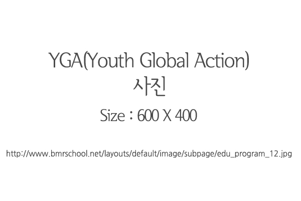 YGA(Youth Global Action)